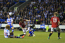 16 May 2017 - Sky Bet Championship - Play-off 2nd Leg - Reading v Fulham - Yann Kermorgant of Reading shoots - Photo: Marc Atkins / Offside.