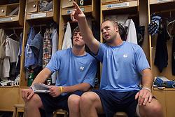 26 April 2009: North Carolina Tar Heels defenseman Charlie McComas (45) and defenseman Jack Ryan (32) during a 15-13 loss to the Duke Blue Devils during the ACC Championship at Kenan Stadium in Chapel Hill, NC.