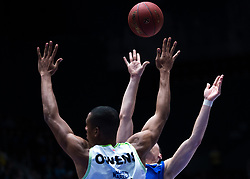November 8, 2017 - Saint Petersburg, Russia - Josh Owens of Tofas Bursa (L) and Kyle Kuric of Zenit St. Petersburg vie for the ball during the EuroCup Round 5 regular season basketball match between Zenit St. Petersburg and Tofas Bursa at the Yubileyny Sports Palace in St. Petersburg, Russia, November 08, 2017. (Credit Image: © Igor Russak/NurPhoto via ZUMA Press)
