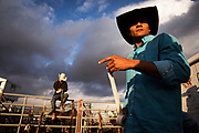 during the bull riding at the Olds rodeo in Olds, Alberta, September 15, 2017. Todd Korol/The Globe and Mail