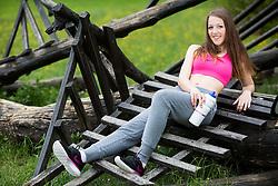 Vesna Kasnik posing during official photo shoot of Miss Sporta Slovenije 2016, on April 23, 2016 in Tivoli, Ljubljana, Slovenia. Photo by Vid Ponikvar / Sportida