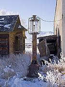 Antique gas pump, ghost town of May, Pahsimoroi Valley, Idaho.