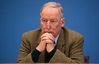 DEU, Deutschland, Germany, Berlin, 12.03.2018: Alexander Gauland, Alternative für Deutschland (AfD), in der Bundespressekonferenz zum Koalitionsvertrag von CDU, CSU und SPD.