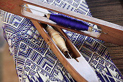 Villagers are increasingly using weaving to produce a household income, these skills were provided by the livelihoods team. Ban Keosengkham, Champhone district, Bolikhamsay Province Lao PDR