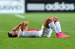 04-08-2015 NED: UEFA CL qualifying AFC Ajax - Rapid Wien, Amsterdam<br /> Ajax is al in de derde voorronde van de Champions League uitgeschakeld. Rapid Wien bleek een niet te nemen horde. Na de 2-2 in Wenen waren de Oostenrijkers in de Arena met 3-2 te sterk / Anwar El Ghazi #21