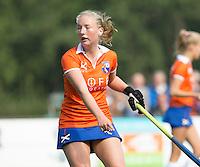 BLOEMENDAAL - Bloemendaal speelster  Laurien Boot  tijdens  de  competitiewedstrijd tussen  de dames van Bloemendaal en Oranje-Zwart (0-0).   Copyright Koen Suyk