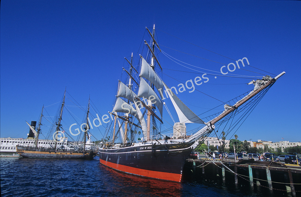 The Star of India is the world's oldest active ship originally commisioned in 1863. At the time she was considered state of the art incorporating both iron and wood construction.
