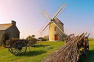 Windmills on the Britany coast, France near Cancale.