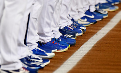 October 6, 2017 - Los Angeles, California, U.S. - Los Angeles Dodgers line the third base line prior to a National League Divisional Series baseball game against the Arizona Diamondbacks at Dodger Stadium on Friday, Oct. 06, 2017 in Los Angeles. (Photo by Keith Birmingham, Pasadena Star-News/SCNG) (Credit Image: © San Gabriel Valley Tribune via ZUMA Wire)