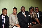 """l to r: Torian Robinson, Donna Duggins, Javier Evans, Teresa Savory and Reggie Canal at b.michael America Spring 2010 Collection """" Advanced American Style """" held at Christie's in Rockefeller Plaza on September 16, 2009 in New York City."""