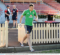 14 June 2013; Tommy Bowe, British & Irish Lions, arrives for the captain's run ahead of their game against NSW Waratahs on Saturday. British & Irish Lions Tour 2013, Captain's Run, North Sydney Oval, Sydney, New South Wales, Australia. Picture credit: Stephen McCarthy / SPORTSFILE