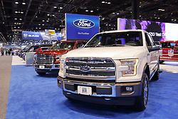 09 February 2017: 2017 Ford F150 King Ranch<br /> <br /> First staged in 1901, the Chicago Auto Show is the largest auto show in North America and has been held more times than any other auto exposition on the continent.  It has been  presented by the Chicago Automobile Trade Association (CATA) since 1935.  It is held at McCormick Place, Chicago Illinois<br /> #CAS17