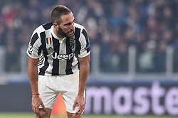 November 22, 2017 - Turin, Italy - Gonzalo Higuan of Juventus looks dejected during the UEFA Champions League match between Juventus and Barcelona at the Juventus Stadium, Turin, Italy on 22 November 2017. (Credit Image: © Giuseppe Maffia/NurPhoto via ZUMA Press)