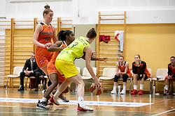 Andjela Delic of ZKK Cinkarna Celje in action during basketball match between ZKK Cinkarna Celje (SLO) and MBK Ruzomberok (SVK) in Round #6 of Women EuroCup 2018/19, on December 13, 2018 in Gimnazija Celje Center, Celje, Slovenia. Photo by Urban Urbanc / Sportida