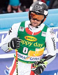 04.03.2017, Podkoren, Kranjska Gora, SLO, FIS Weltcup Ski Alpin, Kranjska Gora, Riesenslalom, Herren, 2. Lauf, im Bild Philipp Schoerghofer (AUT) // Philipp Schoerghofer of Austria reacts after his 2nd run of men's Giant Slalom of FIS ski alpine world cup at the Podkoren in Kranjska Gora, Slovenia on 2017/03/04. EXPA Pictures © 2017, PhotoCredit: EXPA/ Johann Groder