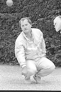 Osterley, Greater London.  <br /> <br /> Competitors at the  Le Piat d'Or,  Petanque/Boules Championships held in the grounds of Osterley House West London, England, <br /> <br /> [Mandatory Credit; Peter Spurrier/Intersport Images] 19870912 Petanque Championships, Osterley, Greater London, UK