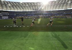 May 25, 2018 - Kiev, Ukraine - Liverpool FC players are seen during their training session for UEFA Champions League Final  at NSC Olimpiyskyi in Kyiv, Ukraine, May 25, 2018. UEFA Champions League Final  (Credit Image: © Sergii Kharchenko/NurPhoto via ZUMA Press)