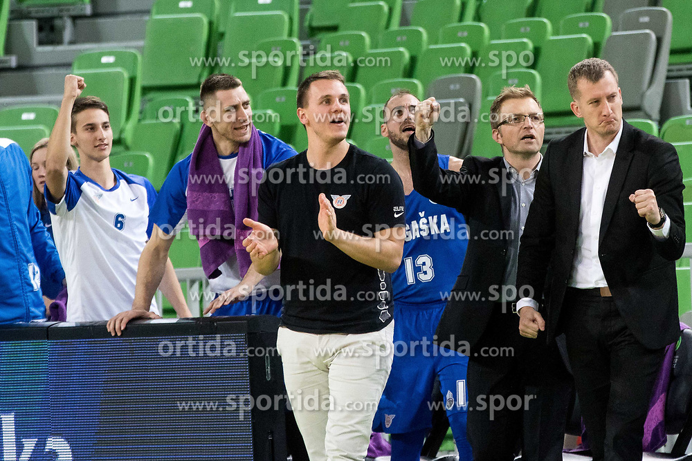 KK Rogaska during 2nd leg basketball match between KK Petrol Olimpija and KK Rogaska in quarter final of  Pokal SPAR 2018/19, on January 14, 2019 in Arena Stozice, Ljubljana, Slovenia. Photo by Matic Ritonja / Sportida