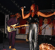 The CHIC Band (Nile Rodgers, Sylver Logan Sharp.Smock Magazine Launch Party.South Street Seaport.New York, NY.June 26, 2001.Photo By CelebrityVibe.com..