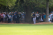 Shane Lowry (IRL) on the 1st during the 1st round at the The Masters , Augusta National, Augusta, Georgia, USA. 11/04/2019.<br /> Picture Fran Caffrey / Golffile.ie<br /> <br /> All photo usage must carry mandatory copyright credit (© Golffile | Fran Caffrey)