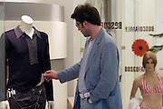 Moscow, Russia, 17/06/2006..Customers in the Bosco di Ciliegi city centre fashion store.