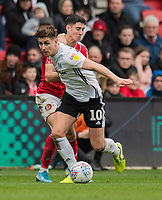 Fulham's Tom Cairney (left) holds off the challenge from Bristol City's Callum O'Dowda (right) <br /> <br /> Photographer David Horton/CameraSport<br /> <br /> The EFL Sky Bet Championship - Bristol City v Fulham - Saturday 7th March 2020 - Ashton Gate Stadium - Bristol<br /> <br /> World Copyright © 2020 CameraSport. All rights reserved. 43 Linden Ave. Countesthorpe. Leicester. England. LE8 5PG - Tel: +44 (0) 116 277 4147 - admin@camerasport.com - www.camerasport.com