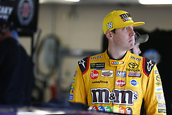 October 19, 2018 - Kansas City, Kansas, United States of America - Kyle Busch (18) hangs out in the garage during practice for the Hollywood Casino 400 at Kansas Speedway in Kansas City, Kansas. (Credit Image: © Justin R. Noe Asp Inc/ASP via ZUMA Wire)