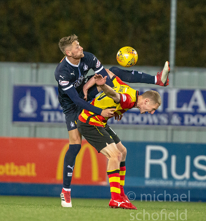 Falkirk's Patrick Brough and Partick Thistle's Chris Erskine. Falkirk 1 v 1 Partick Thistle, Scottish Championship game played 17/11/2018 at The Falkirk Stadium.