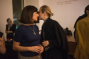 "RACHEL HOWARD; POLLY MORGAN, The launch of Rachel Howard's ""Humble Hanger"" -  a limited edition jewellery collaboration with True Rocks.. BlainSouthern, Hanover Sq. London. 18 November 2015"
