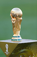 The World Cup trophy during the 2014 FIFA World Cup Final match at Maracana Stadium, Rio de Janeiro<br /> Picture by Andrew Tobin/Focus Images Ltd +44 7710 761829<br /> 13/07/2014