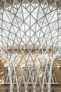King's Cross Station Western Concourse.  Architect: John McAslan + Partners. Engineer: Arup, Built 2012