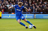 AFC Wimbledon defender Mads Bech Sorensen (26) passing the ball during the EFL Sky Bet League 1 match between AFC Wimbledon and Peterborough United at the Cherry Red Records Stadium, Kingston, England on 18 January 2020.