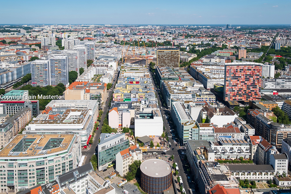 Skyline view over Mitte district, Berlin, Germany