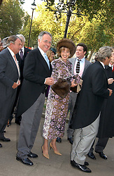 MR & MRS PETER HAMBRO at the wedding of Clementine Hambro to Orlando Fraser at St.Margarets Westminster Abbey, London on 3rd November 2006.<br /><br />NON EXCLUSIVE - WORLD RIGHTS