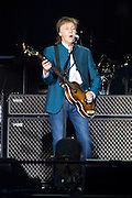 MADRID, SPAIN, 2016, <br /> <br />  The artist, who gave his last concert in Spain twelve years ago, presented on June 2 in the capital One on one tour. The concert was historic. McCartney played for three hours songs of The Beatles, Wings and his solo career. He came with his band, the same that has been accompanying in the last 10 years: Paul Wix Wickens (keyboards), Brian Ray (bass, guitar), Rusty Anderson (guitar) and Abe Laboriel Jr (drums). This new production made up of the latest audio and video technologies, large screens, lasers and special effects, assured an unforgettable experience from anywhere in the room.<br /> ©Exclusivepix Media