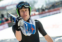 Andraz Pograjc during the Trial Round of the Ski Flying Hill Individual Competition at Day 1 of FIS Ski Jumping World Cup Final 2019, on March 21, 2019 in Planica, Slovenia. Photo by Vid Ponikvar / Sportida