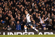 Harry Kane of Tottenham Hotspur celebrates after scoring his teams 1st goal of the match to make it 1-0. Barclays Premier league match, Tottenham Hotspur v West Ham Utd at White Hart Lane in London on Sunday 22nd November 2015.<br /> pic by John Patrick Fletcher, Andrew Orchard sports photography.