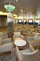 Voyages of Discovery's newly refurbished ship mv Voyager..The Darwin Lounge.