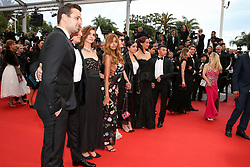 Benoit Magimel (L), Clotilde Courrau (3-L), Zahia Dehar and guests attend the screening of A Hidden Life (Une Vie Cachee) during the 72nd annual Cannes Film Festival on May 19, 2019 in Cannes, France. Photo by Shootpix/ABACAPRESS.COM