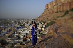 Morning in Jodhpur in India's Rajasthan Thar desert. (Photo by Ami Vitale)