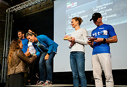 Tina Maze at Trophy ceremony during Ironman 70.3 Slovenian Istra 2019, on September 22, 2019 in Koper / Capodistria, Slovenia. Photo by Vid Ponikvar / Sportida