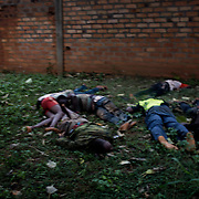 December 6th 2013, dead bodies of Anti Balaka are piled up onto each other on the streets.