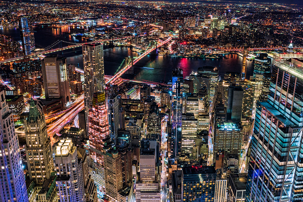 Lower Manhattan (foreground) & Brooklyn (background)