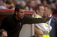 Photo: Jed Wee.<br />Darlington v Swindon Town. Coca Cola League 2. 19/08/2006.<br /><br />Swindon assistant manager Gus Poyet.