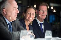"""29 MAR 2017, BERLIN/GERMANY:<br /> Dr. Stormy-Annika Mildner (M), B23 Sherpa und Leiterin der Abteilung Außenwirtschaftspolitik im Bundesverband der Deutschen Industrie, BDI, Veranstaltung des Wirtschaftsforums der SPD und der Business 20, B20: """"Global Governance in Zeiten der Globalisierungsskepsis - Impulse aus der G20-Wirtschaft"""", Quartier Zukunft der Deutschen Bank<br /> IMAGE: 20170329-02-159"""