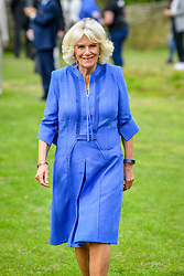 The Duchess of Cornwall during a visit to the Youth Action Wiltshire Oxenwood Outdoor Activity Centre near Marlborough, Wiltshire, where she is meeting young carers and reopening the centre, which has been shut during the coronavirus lockdown.