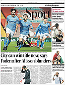 February 08, 2021 (UK): Front-page: Today's Newspapers In United Kingdom