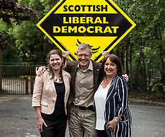 Willie Rennie celebrates with new MPs | Milngavie | 11 June 2017