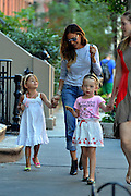 Sept. 4, 2014 - New York City, NY, United States - <br /> <br /> Sarah Jessica Parker school run<br /> <br /> Actress Sarah Jessica Parker takes her daughters Tabitha and Marion Broderick to school in the West Village on September 4 2014 in New York City  <br /> ©Exclusivepix
