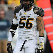 ORLANDO, FL - JANUARY 01:  Shane Ray #56 of the Missouri Tigers is seen on the field during the Buffalo Wild Wings Citrus Bowl between the Minnesota Golden Gophers and the Missouri Tigers at the Florida Citrus Bowl on January 1, 2015 in Orlando, Florida. (Photo by Alex Menendez/Getty Images) *** Local Caption *** Shane Ray